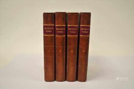 FIELDING, Henry, History of Tom Jones, 4 vol, Paris 1780. Contemporary calf (4)