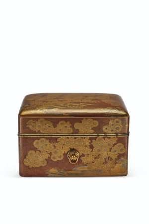 A LACQUER COSMETIC BOX (TEBAKO)