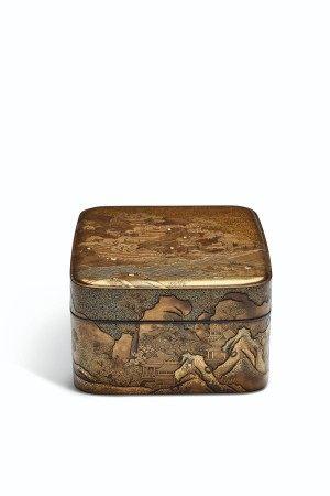 A LACQUER ACCESSORY BOX (TEBAKO)