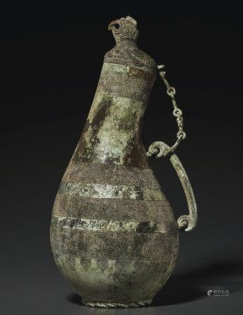 春秋 青銅鳥首匏形壺