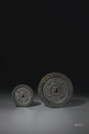 西漢 青銅「四靈鏡」兩枚