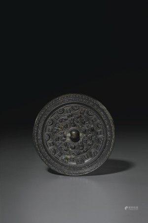 東漢 青銅神人神獸紋鏡