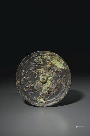 唐 青銅鸞鳳瑞獸紋鏡