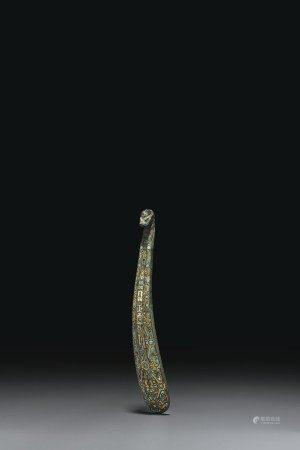 戰國 青銅錯金銀嵌綠松石帶鉤