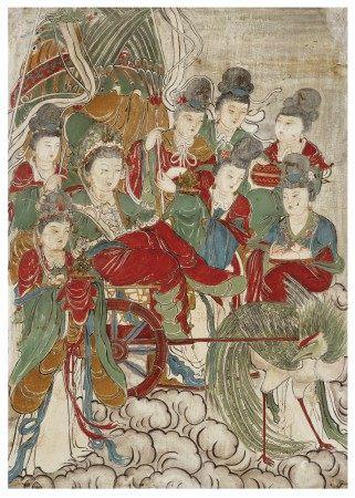 明 彩繪仙人圖壁畫