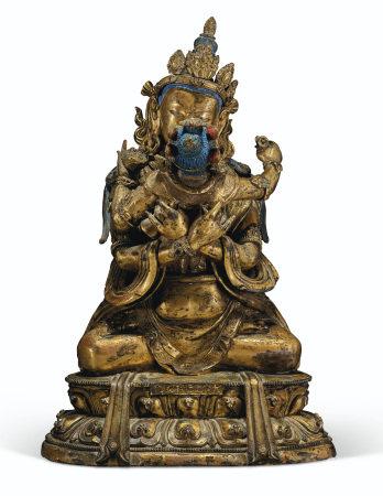 清乾隆 多杰羌佛坐像 「大清乾隆年敬造」單行鑄款