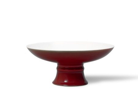 A Copper-Red-Glazed Tazza, Qianlong Mark and Period, Qing Dynasty