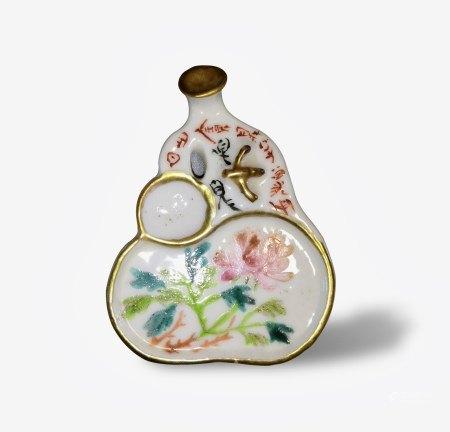 A Qianjiangcai 'Floral' Ink Palatte, Guangxu Period, Qing Dynasty