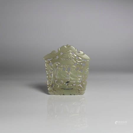 A Jade Reticulated Plaque, Qing Dynasty