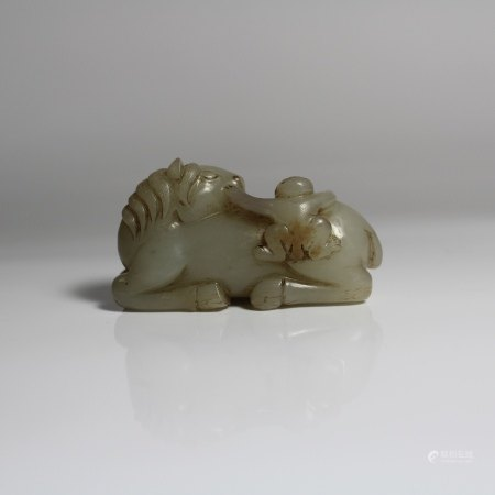 A Jade Carving of a Horse, Qing Dynasty