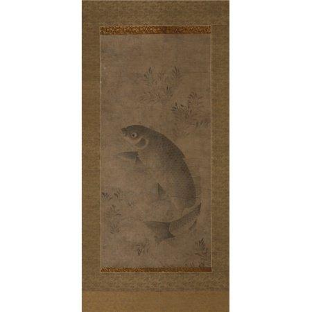 佚名 水墨鯉魚圖