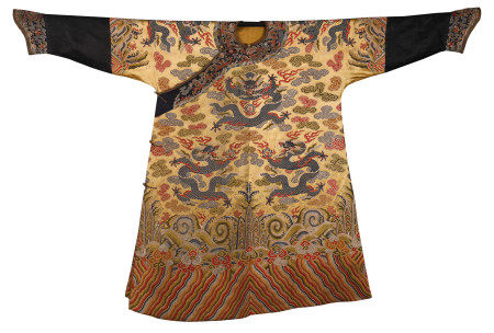 CHINESE GOLT GROND EMBROIDERY NINE DRAGONS TMPERIAL ROBE