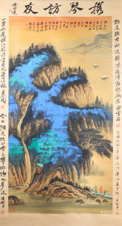 CHINESE INK AND COLOR PAINTING OF ZHANG DAQIAN