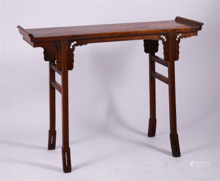 CHINESE HARDWOOD CARVED GUQIN TABLE