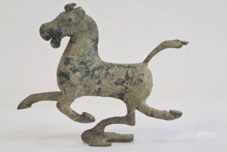 20th century bronze replica of 'The Flying Horse of Gansu on Swallow', the galloping horse