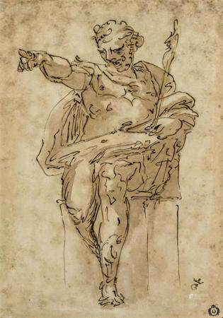 Attributed to Luca Cambiaso (Italian 1527-1585), Seated Figu