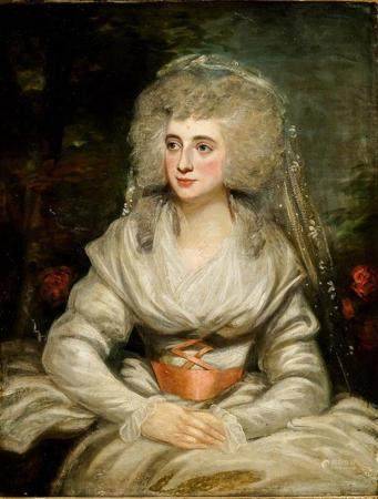 Attributed to George Romney (British 1734-1802), Portrait of