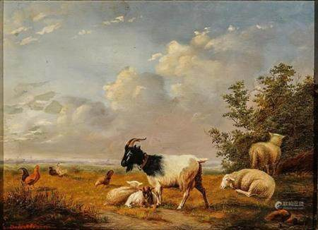 Eugène Verboeckhoven (Belgian 1799-1881), Sheep and Goats in