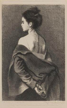 Raphael Soyer THE MODEL (COLE 64) Lithograph