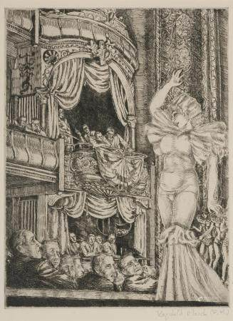 Reginald Marsh STAR BURLESK (SASOWSKY 142) Etching