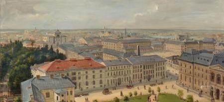 Czeslaw Boris Jankowski Polish, 1862-1941 View of Warsaw