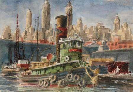 Reginald Marsh American, 1898-1954 Lehigh Valley, 1938