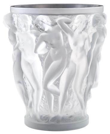 Lalique Glass Bacchantes Vase