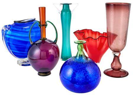 Group of Italian glass
