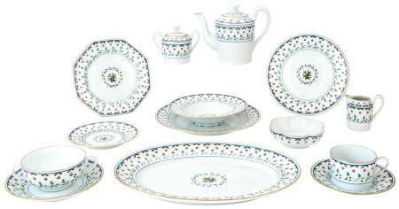 Limoges Ceralene Porcelain Lafayette Pattern Dinner Service