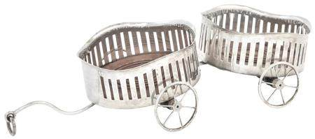 American Sterling Silver Wine Wagon