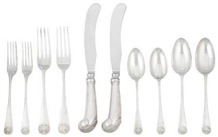 Steiff Sterling Silver Williamsburg Shell Pattern Flatware S