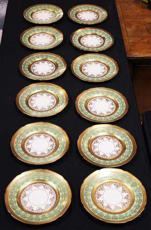 ROYAL BAVARIAN HUTSCHENREUTHER PAINTED PLATES (12)