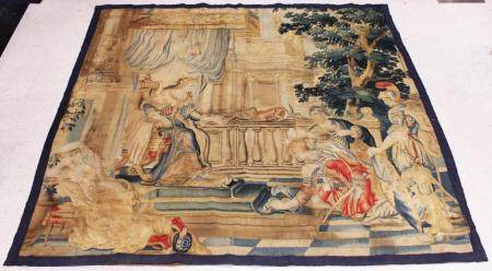 AUBUSSON 17TH-18TH C. WALL TAPESTRY