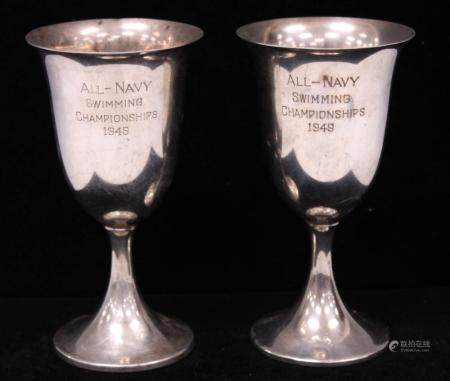 LOT OF (2) VINTAGE STERLING SILVER TROPHIES