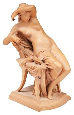 JULES FRANCESCHI (1825-1893) TERRA-COTTA STATUE