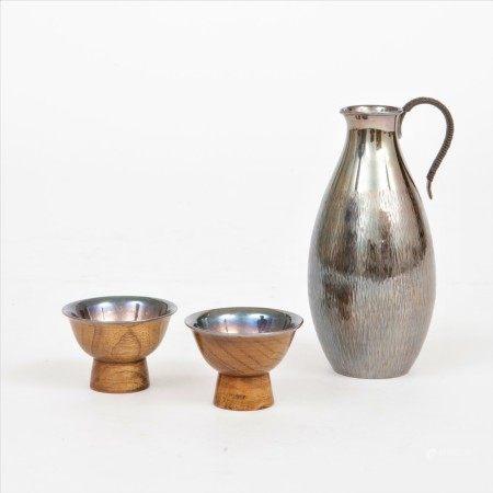 純銀酒壺杯一套三件