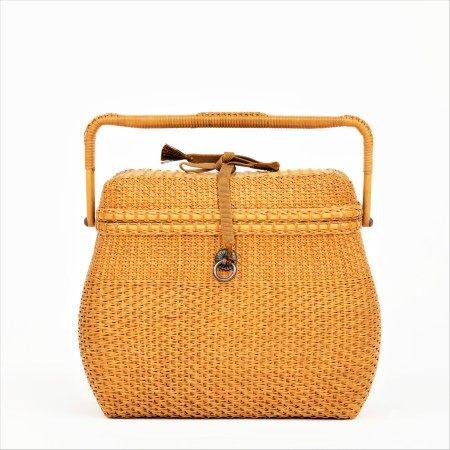 竹編提籃式茶箱