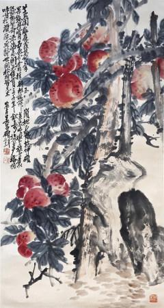 吳昌碩 壽桃