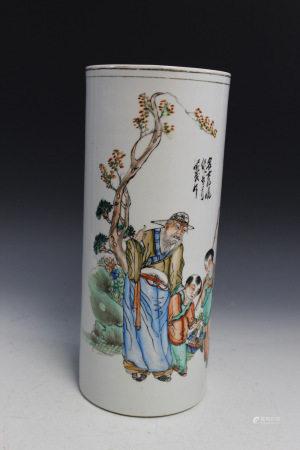 Chinese Porcelain Hat Vase.