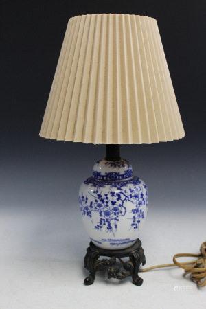 Chinese Porcelain Jar Lamp