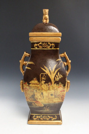 Chinese Modern Porcelain Covered Vase
