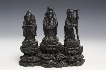 Chinese Statue of Three Immortals.