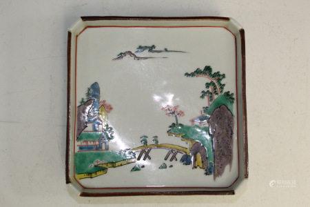 Old Japanese Square Dish