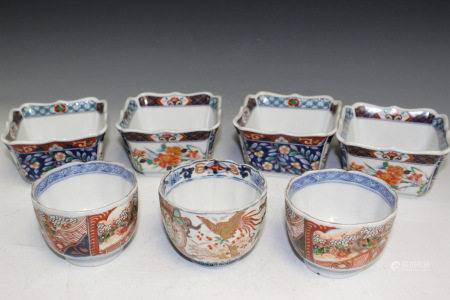 A Group of Seven Japanese Porcelain Cups.