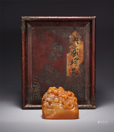 A CHINESE DRAGON PATTERN TIANHUANG SEAL