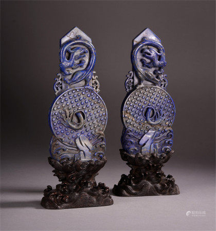 A PAIR OF CHINESE RITUAL JADES WORN BY NOBILITY