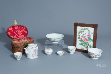 A varied collection of Chinese famille rose and