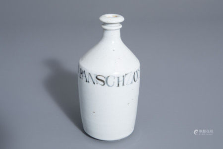 A Japanese blue and white Arita soy sauce bottle, Edo,