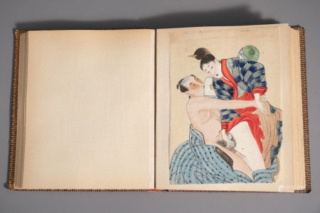 Japanese school, 19th C., ink and colour on silk: An