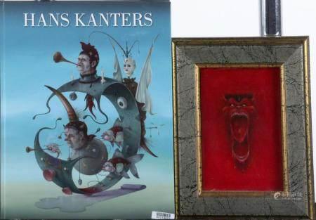 Hans Kanters (Amsterdam 1947), Devil's face, oil on painter'